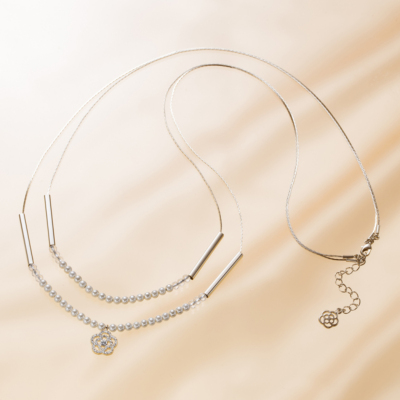 Ciel Series<br>Long Camellia Necklace