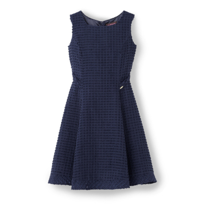 Square Cut Jacquard Dress